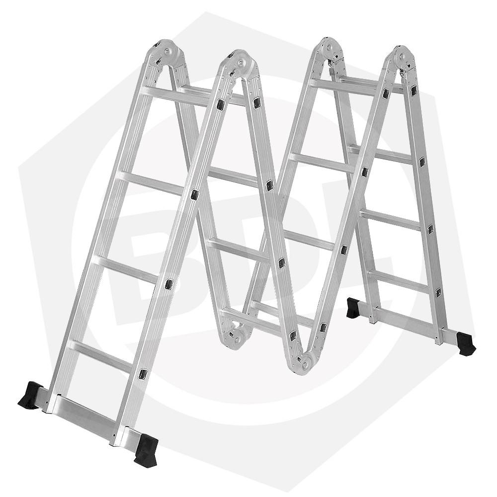 OFERTA - 15% DE DESCUENTO - Escalera de Aluminio Articulada FMT - 16 Escalones