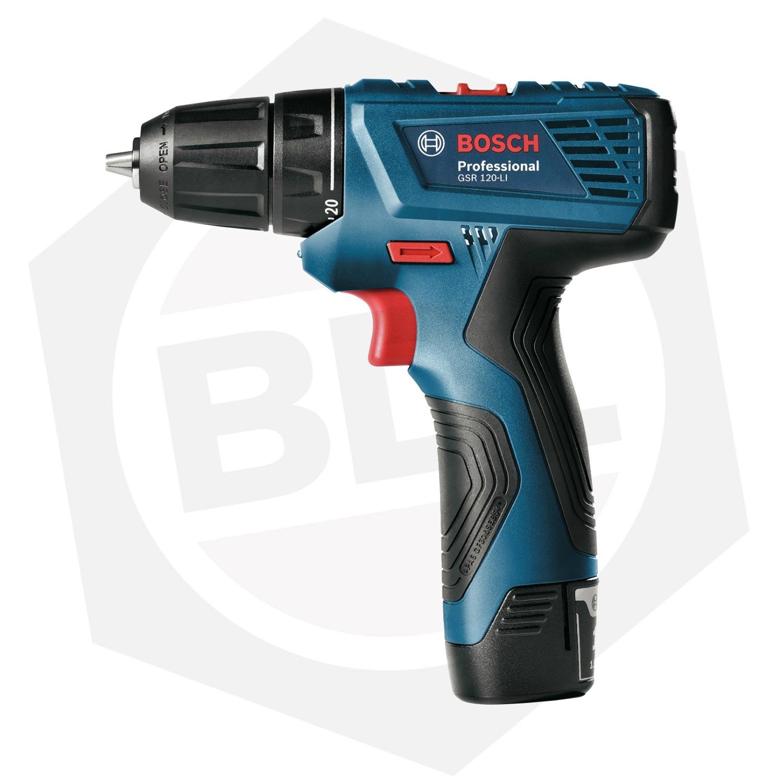 Taladro Atornillador Bosch GSR 120-LI - 12 V / 2 Baterías - 21 Accesorios