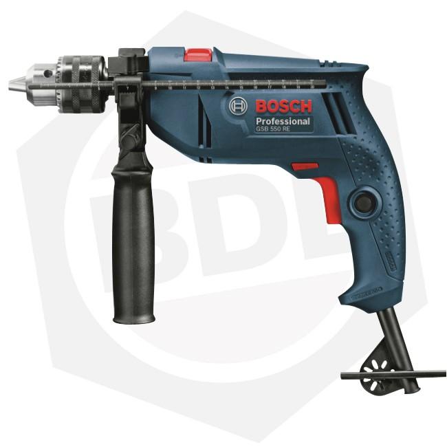 Taladro Percutor Bosch GSB 550 RE - 550 W / 34 Accesorios