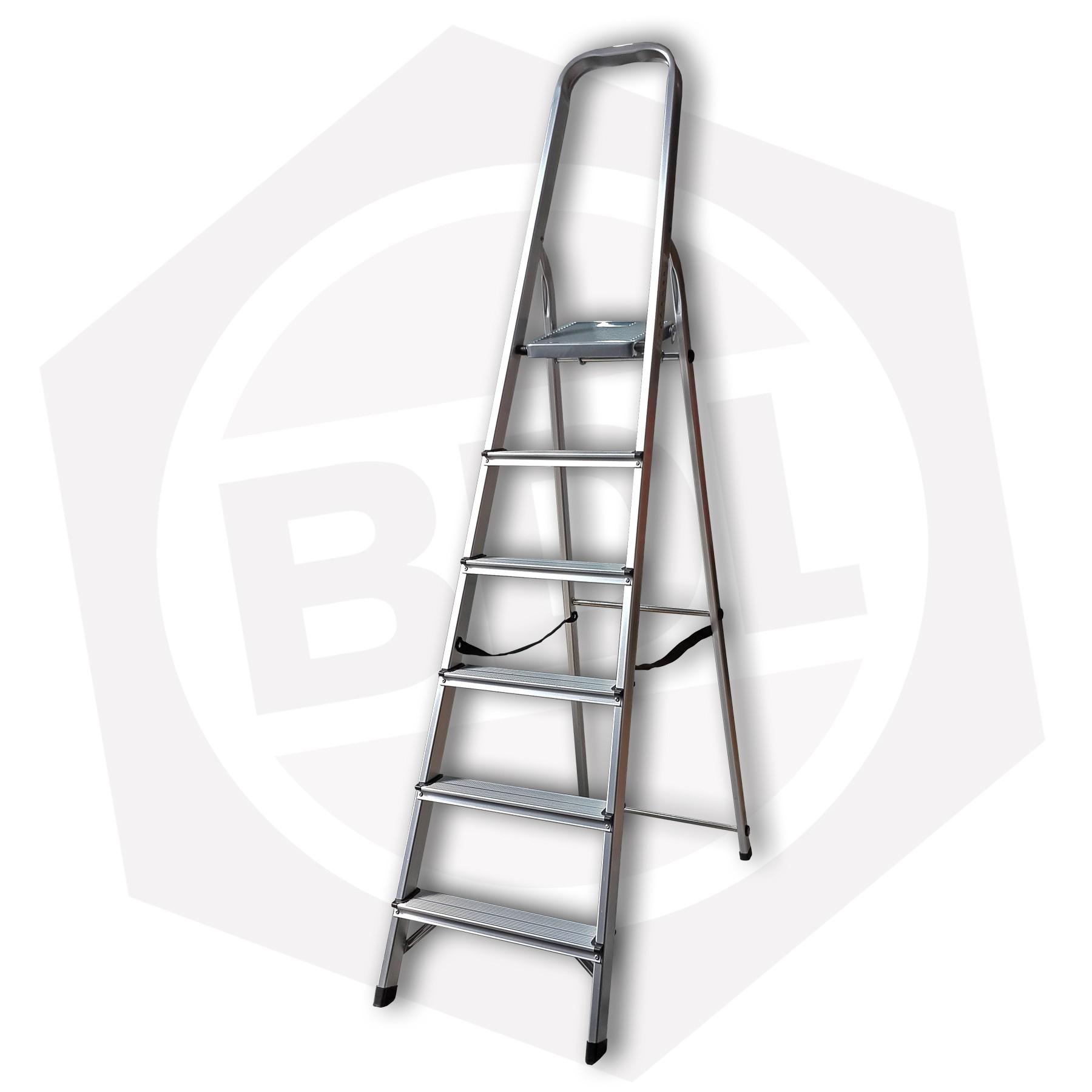 OFERTA - 15% DE DESCUENTO - Escalera de Aluminio Familiar con Arco FMT - 6 Escalones