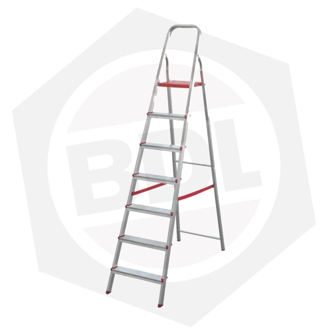 OFERTA - 15% DE DESCUENTO - Escalera de Aluminio Familiar con Arco FMT - 7 Escalones