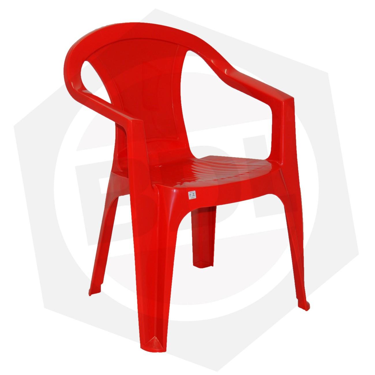 Silla Plástica ILHABELA Tramontina 92205/040 - ROJA