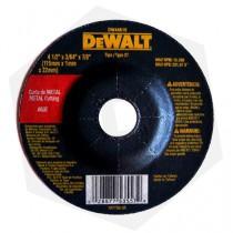Disco de Corte Centro Plano para Metal Dewalt DW44601 - 115 x 1.6 mm