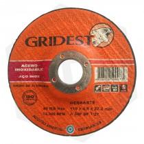 Disco de Desbaste Óxido de Aluminio Centro Deprimido Gridest - 115 x 4.8 mm