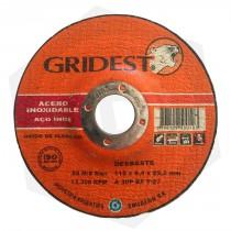 Disco de Desbaste Óxido de Aluminio Centro Deprimido Gridest - 115 x 6.4 mm