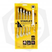 Juego de Llaves Combinadas Stanley Ratchet STMT74080