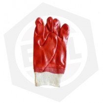 Guante PVC Rojo con Puño Elastizado De Pascale 31145