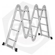 Escalera de Aluminio Articulada Lusqtoff LE400 - 16 Escalones