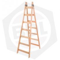 Escalera de Madera Pintor Doble Femat - 7 Escalones