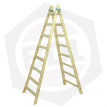 Escalera de Madera Pintor Doble Femat - 8 Escalones