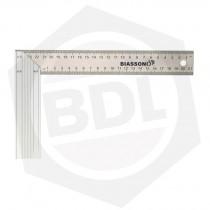 Escuadra Carpintero Milimetrada con Mango de Aluminio Biassoni 992945 - 350 mm