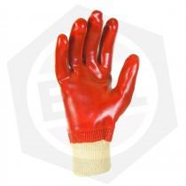 Guante PVC Dorso Textil Rojo GAMISOL 123VR