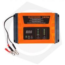 OFERTA - 15% DE DESCUENTO - Cargador de Baterías Black & Decker BC12 - 2, 8, 12 AMP / 260 W