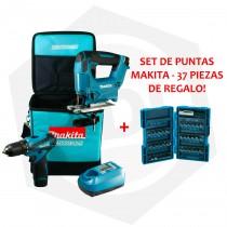 Combo Makita DK1475X3 - Taladro + Caladora + Bolso + Juego de Puntas
