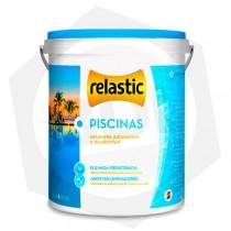 Pintura para Piscinas Relastic - Base Acuosa / 4 Litros / AZUL TRAFUL