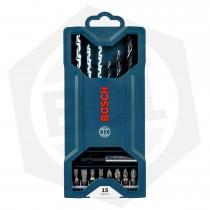 Juego de Puntas Bosch MINI-X-LINE 2607017408 - 15 Piezas