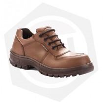 Zapato de Cuero Flor Dieléctrico con Puntera Funcional