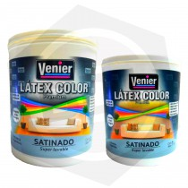 Látex Color Premiun Interior / Exterior Super Lavable Satinado Venier