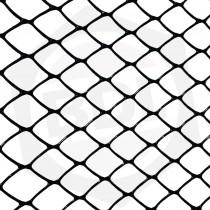 Tejido Cerramiento Plástico Rombo / Ancho 1.00 m / Negro