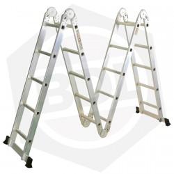 OFERTA - 15% DE DESCUENTO - Escalera de Aluminio Articulada FMT - 20 Escalones