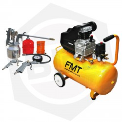 Compresor FMT TD2550B - 50 Litros + Kit para Compresor FMT